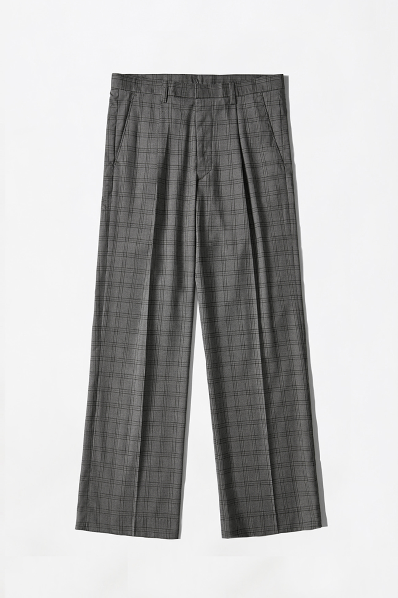 [UNISEX] BASIC CHECK SLACKS _ GREY CHECK