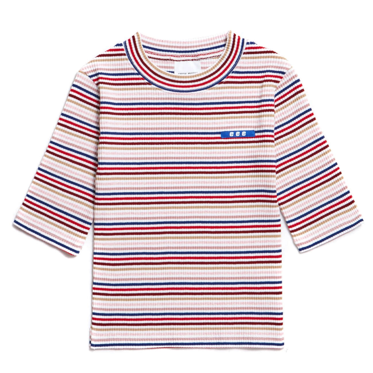 EVAN MULTI STRIPE - WHITE&PINK