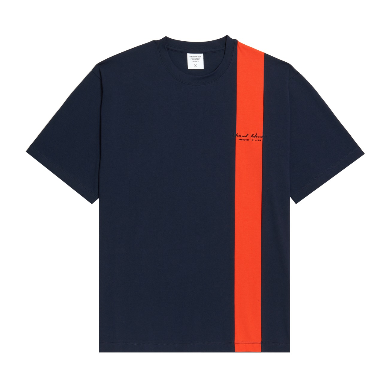[UNISEX] VERTICAL LINED TEE NAVY