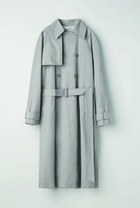 [UNISEX]OVER SIZED TRENCH COAT GREY