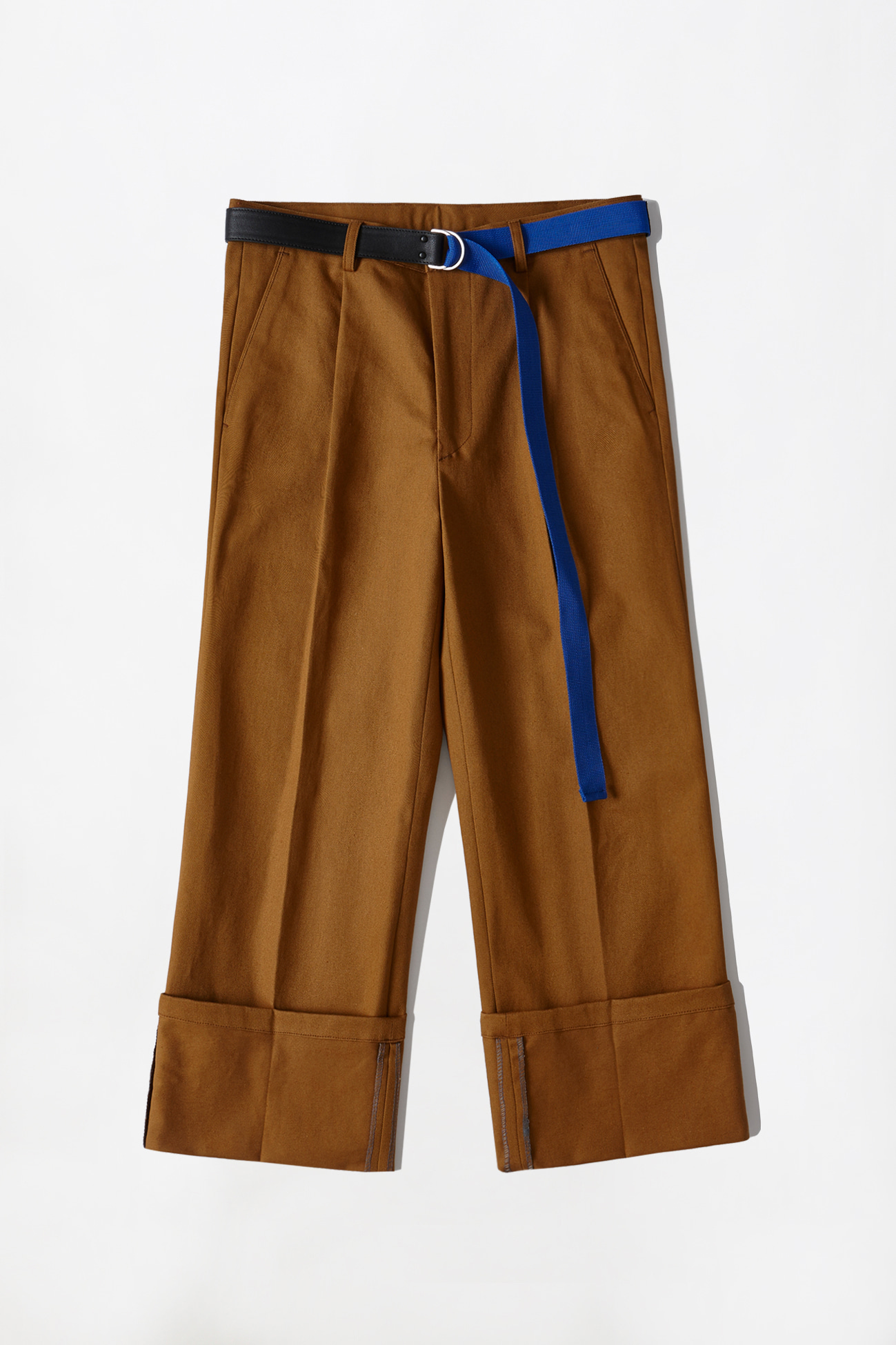 [UNISEX] CHINO ROLL-UP PANTS _ BROWN