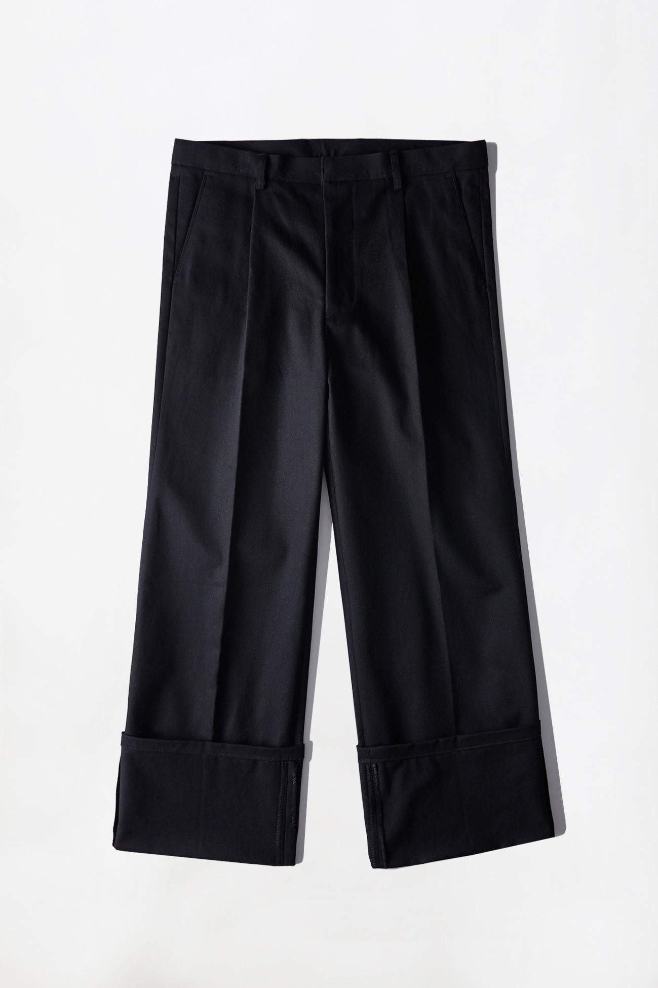 [UNISEX] CHINO ROLL-UP PANTS _ BLACK