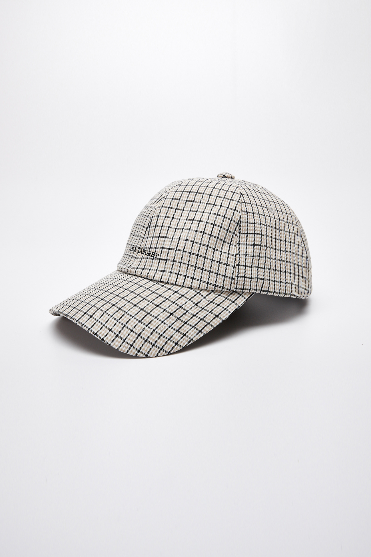 EVAN LOGO CHECK CAP_BEIGE CHECK