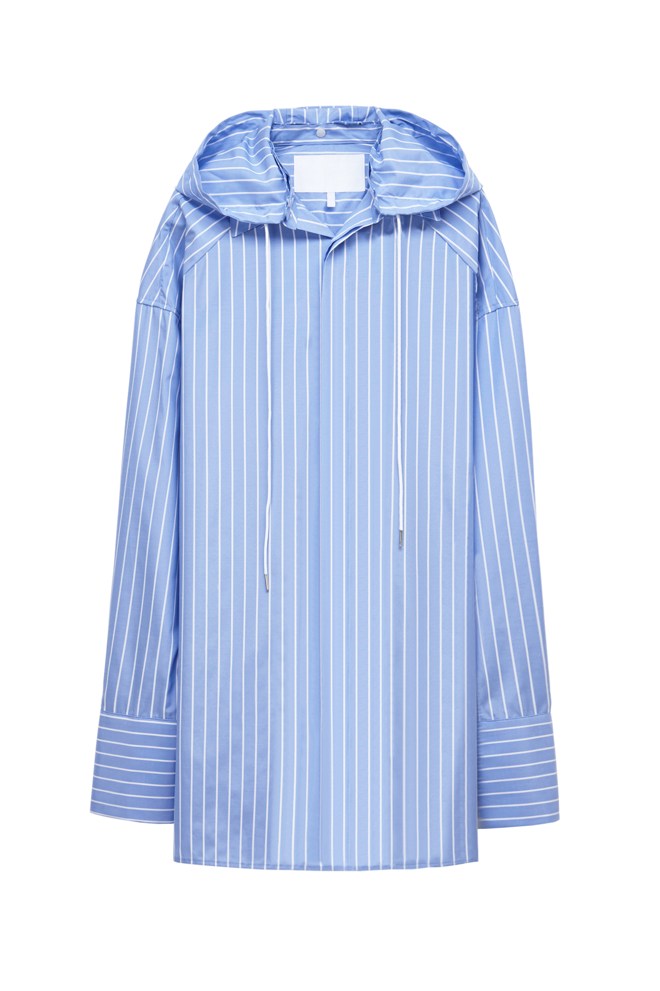 Blue stripe hood shirt