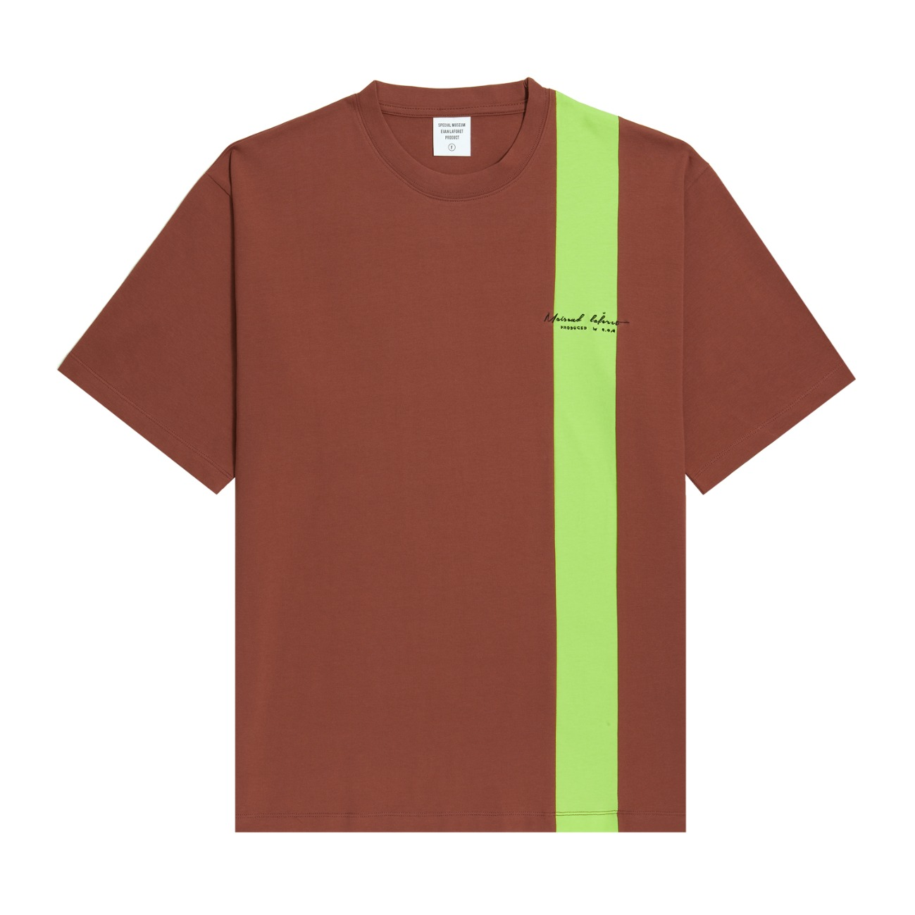 [UNISEX] VERTICAL LINED TEE BROWN