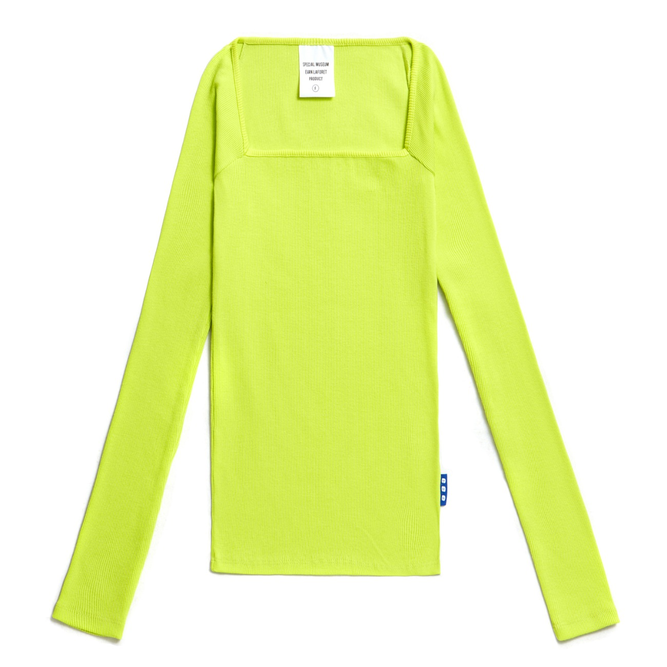 EVAN SQUARE NECK  T-SHIRTS LIME