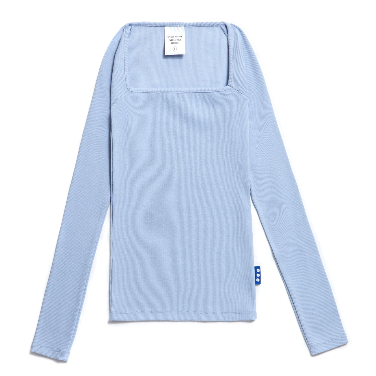 EVAN SQUARE NECK  T-SHIRTS SKYBLUE