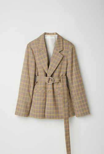 [UNISEX]SINGLE JACKET CHECK