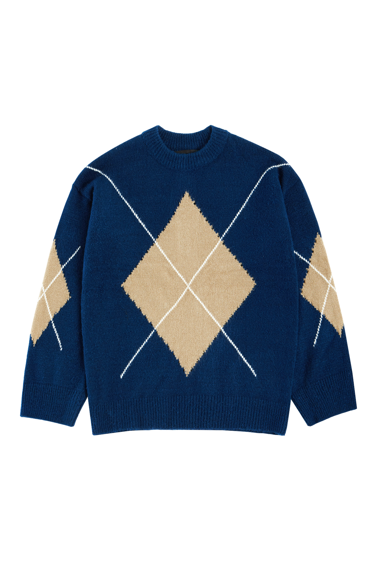 Argyle sweater navy