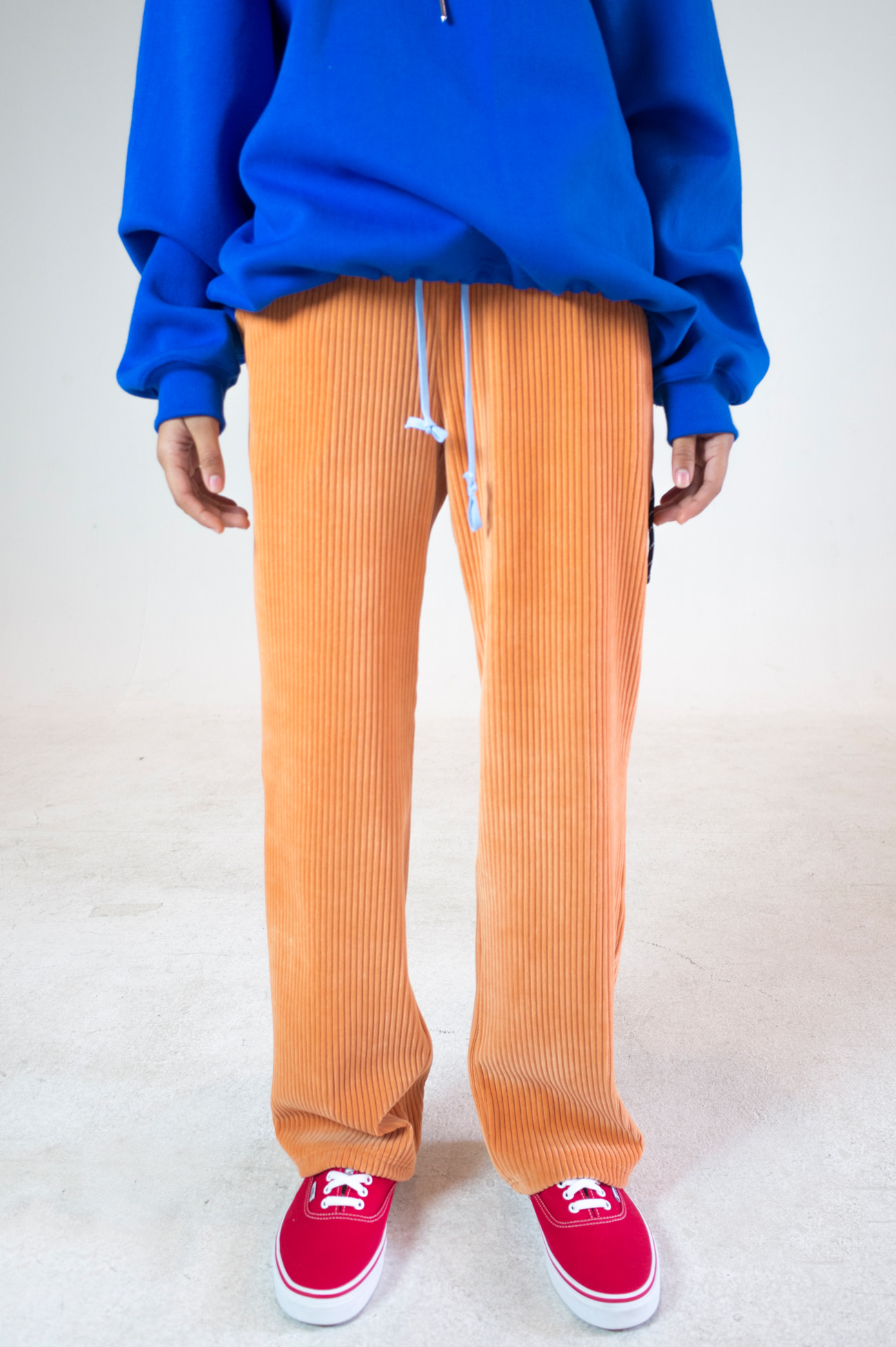 [UNISEX] CORDUROY LOOSE FIT PANTS PEACH