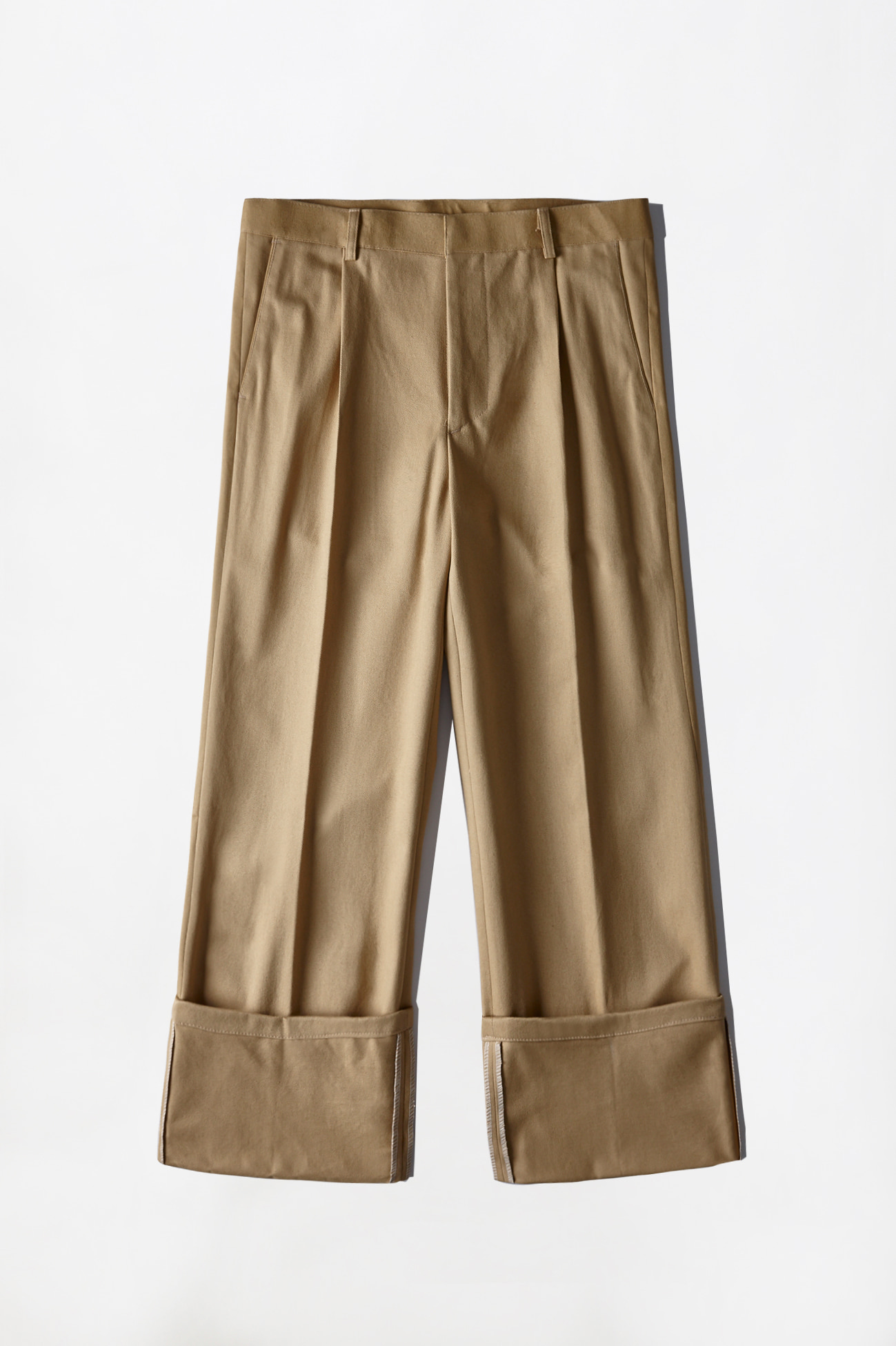 [UNISEX] CHINO ROLL-UP PANTS _ LIGHT BEIGE