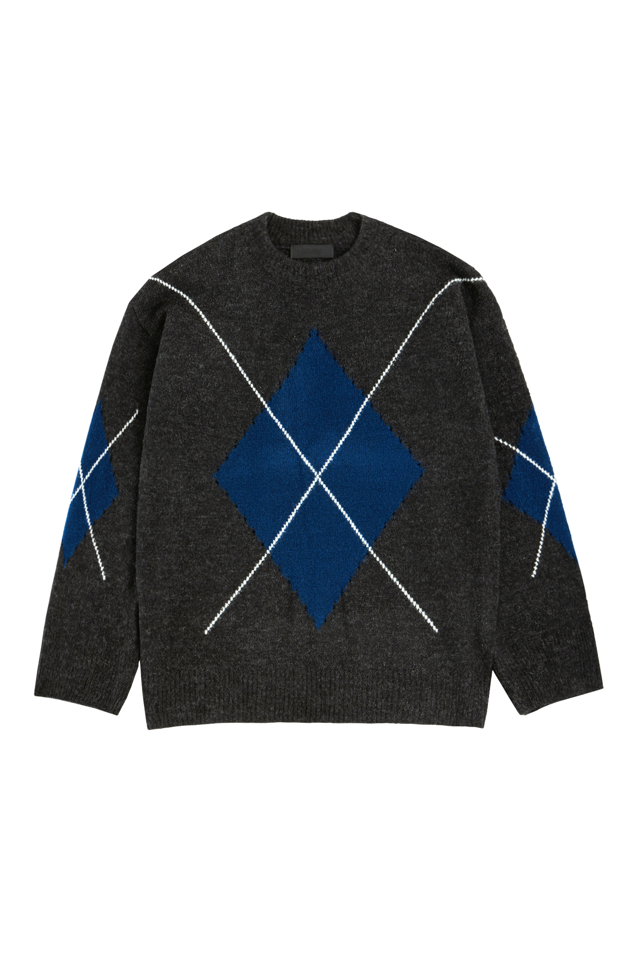 Argyle sweater charcoal